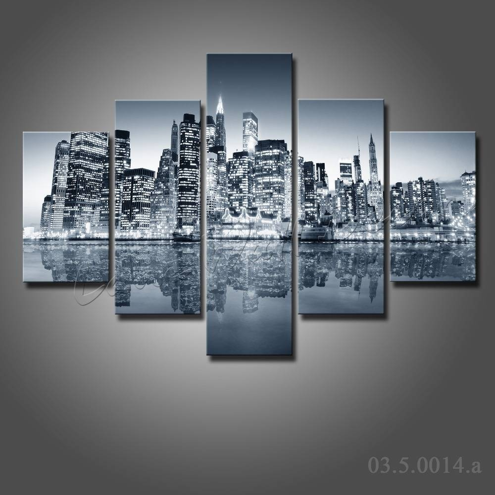 Wall Art Designs: New York City Canvas Wall Art Nyc Canvas Art Throughout Latest New York Skyline Canvas Black And White Wall Art (View 16 of 20)