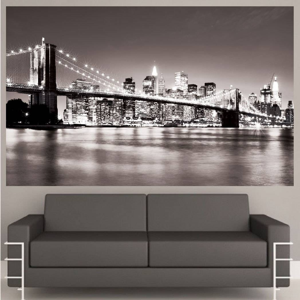 Wall Art Designs: Nyc Wall Art Nyc Wall Art Rectangle Black White Within Most Recently Released New York Skyline Canvas Black And White Wall Art (View 3 of 20)