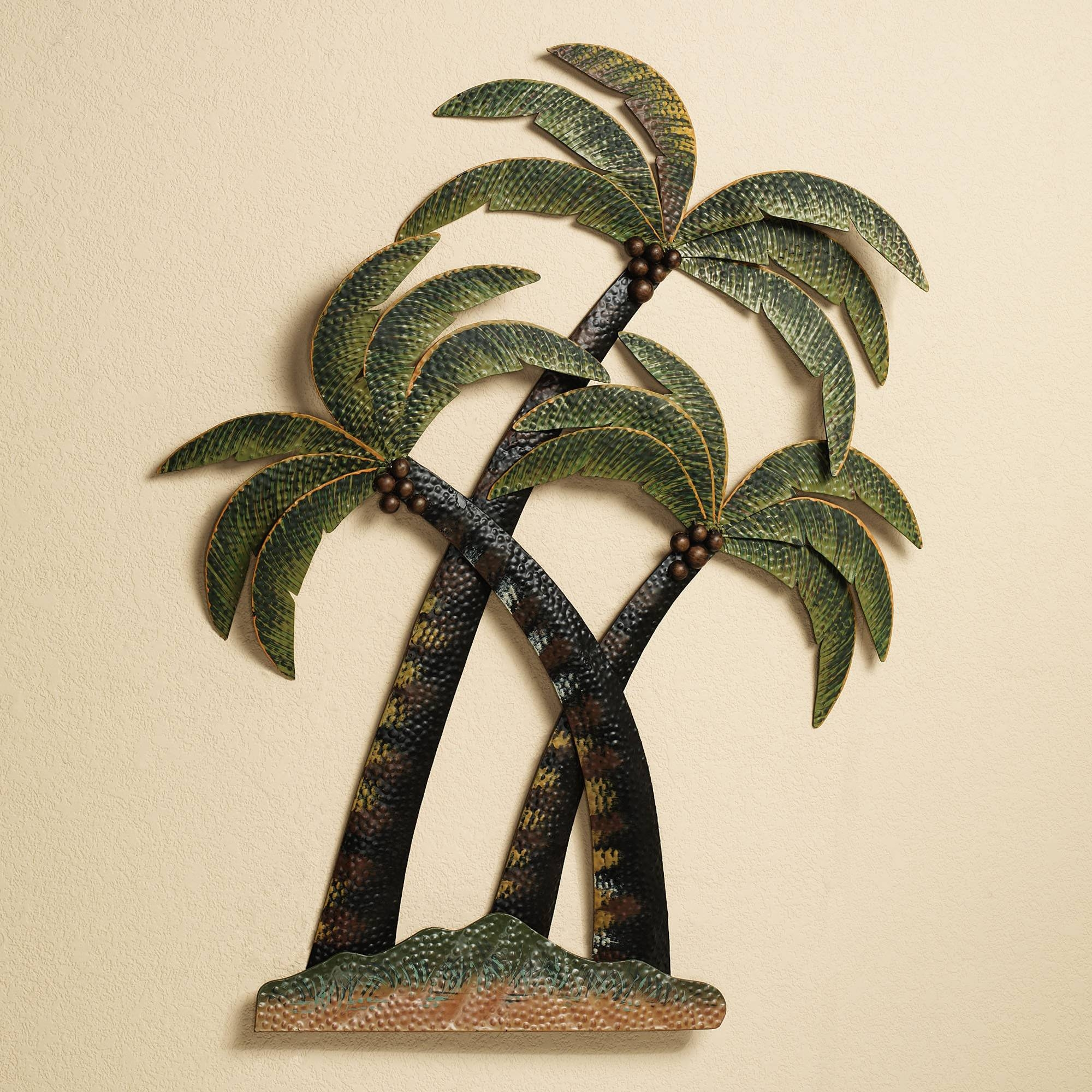 Wall Art Designs: Palm Tree Wall Art Palm Tree Bathroom Palm Trees With Newest Metal Wall Art For Bathroom (View 14 of 25)