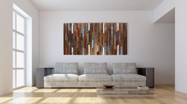 Wall Art Designs: Plank Wall Art Dark Wood Plank Frame With Coral Inside 2017 Dark Wood Wall Art (View 15 of 15)