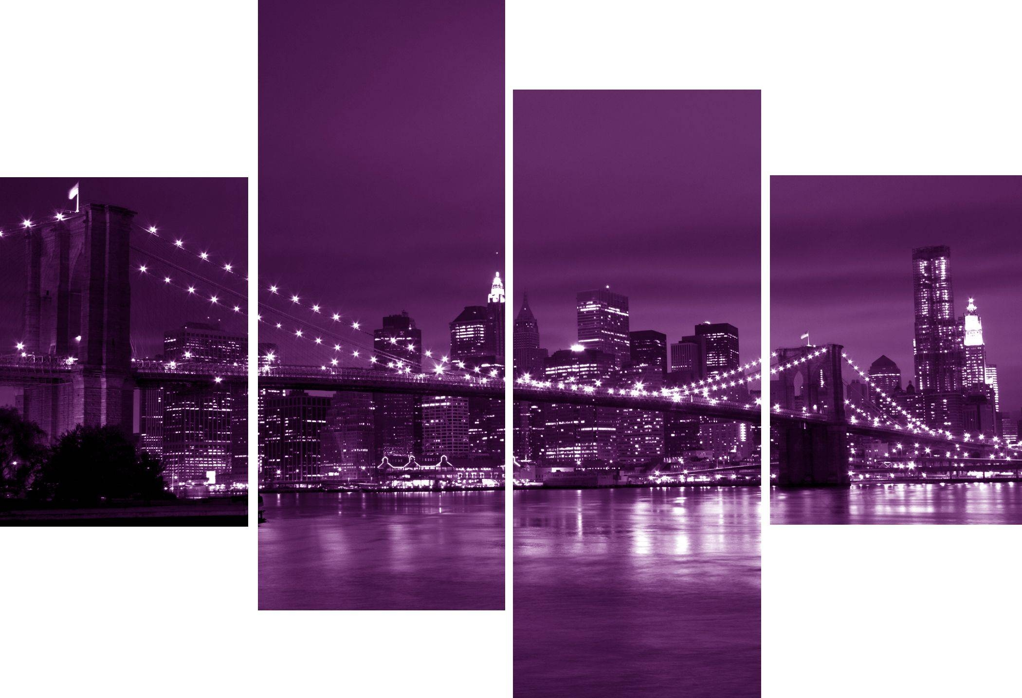 Featured Photo of Purple Wall Art Canvas