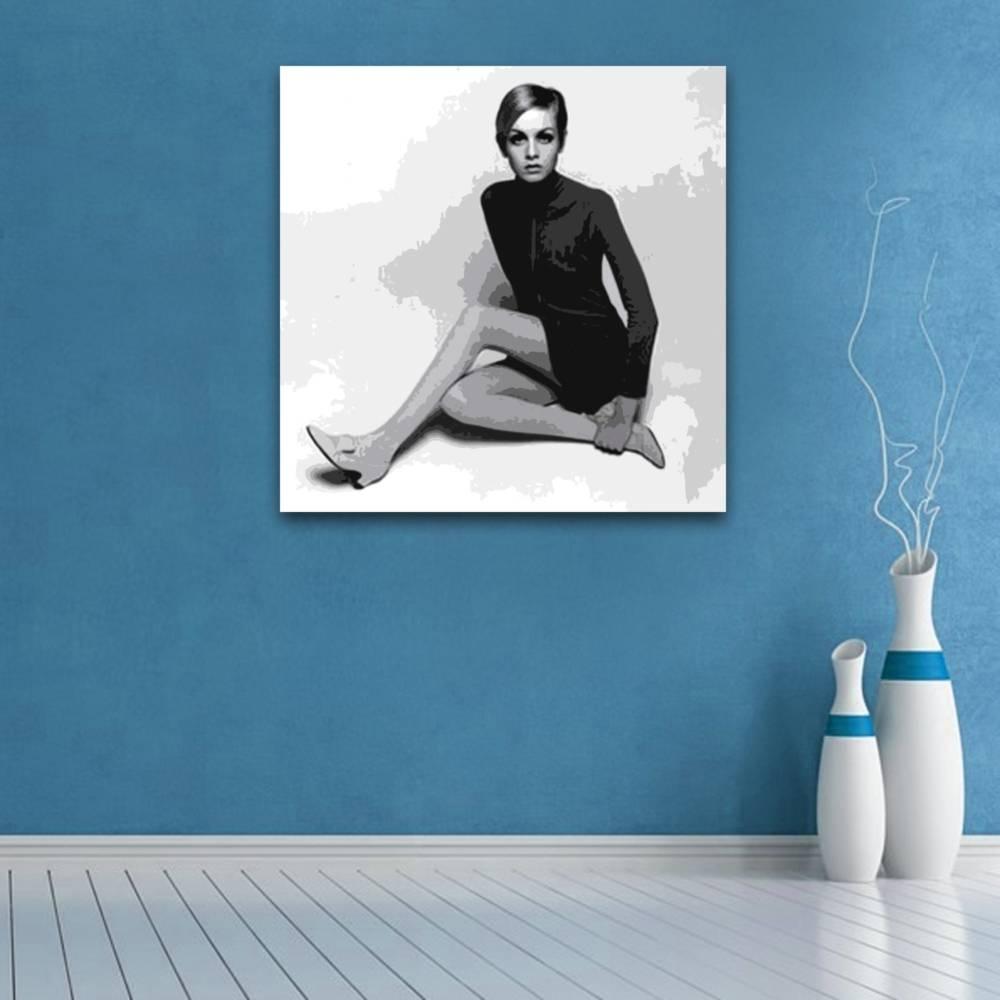 Featured Photo of Twiggy Vinyl Wall Art