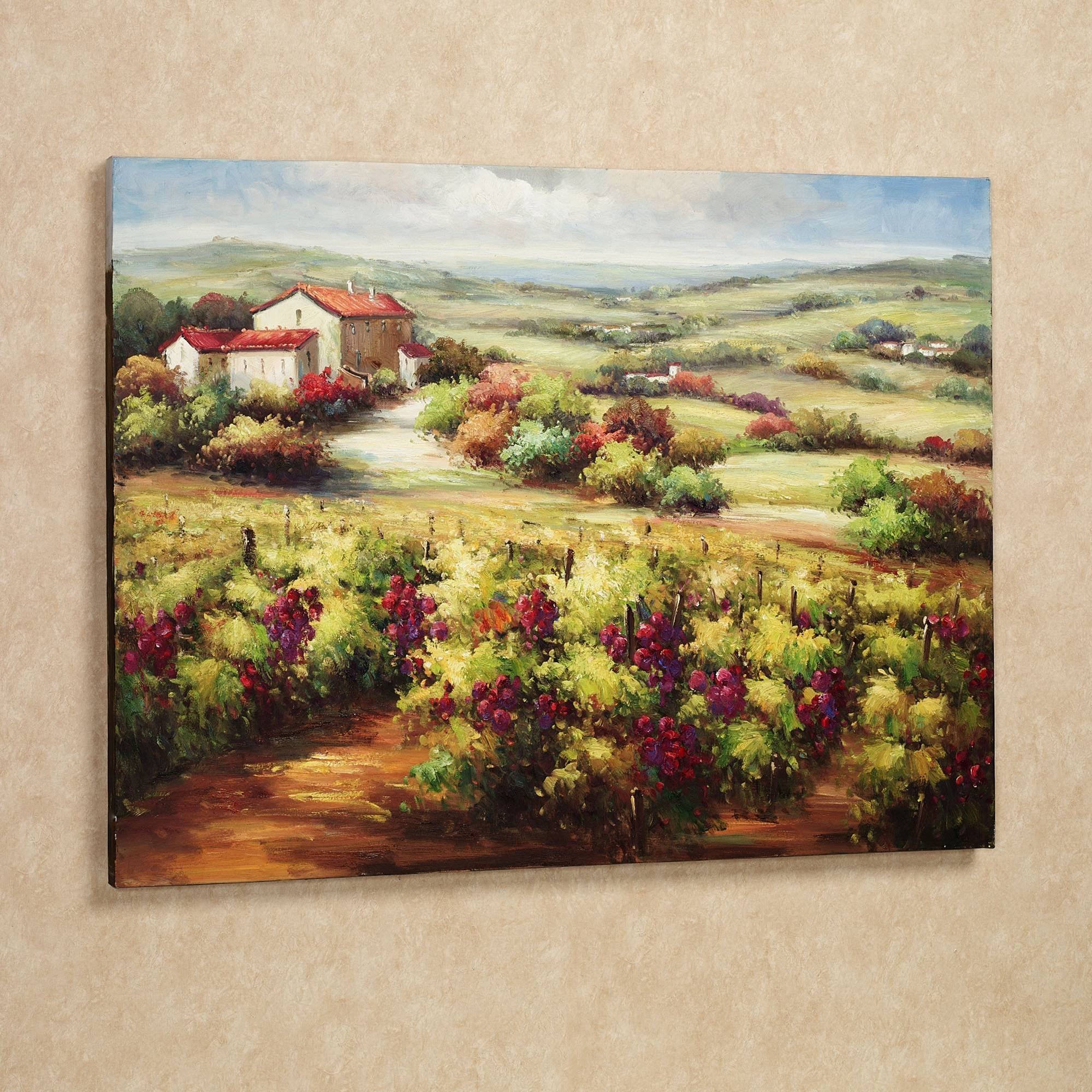 Wall Art Designs: Terrific Vineyard Wall Art Wine Decor Kitchen Inside Current Vineyard Wall Art (View 17 of 20)