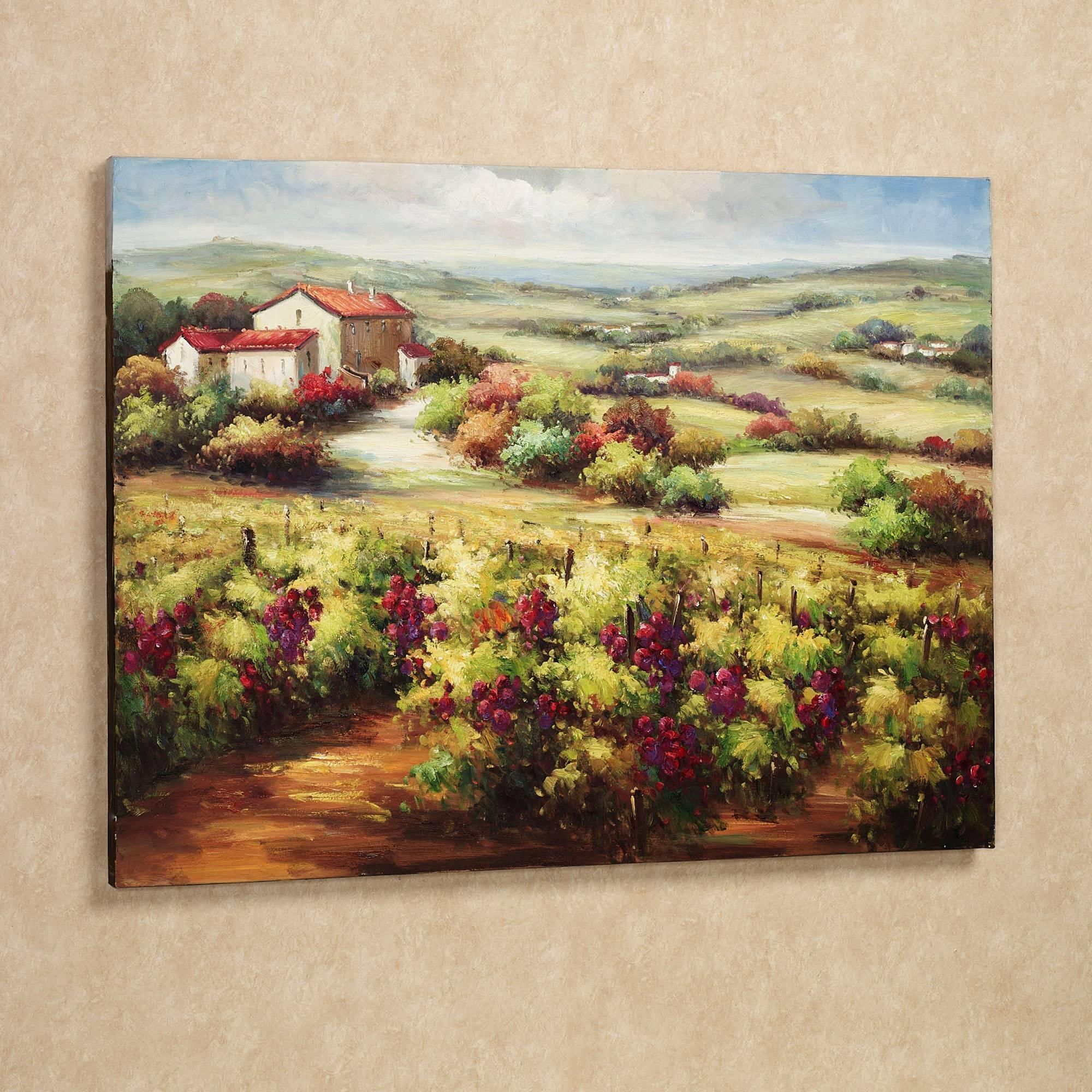 Wall Art Designs: Terrific Vineyard Wall Art Wine Decor Kitchen Inside Current Vineyard Wall Art (View 3 of 20)