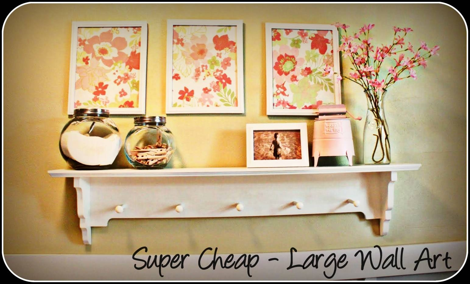 Wall Art Designs: Top Cheapest Wall Art Stickers Economical Art Regarding Most Recent Cheap Big Wall Art (View 17 of 20)