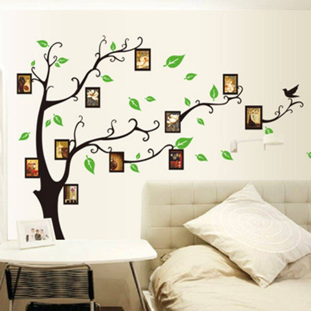 Wall Art Designs: Wall Art Ideas Family Mural Tree Wall Decoration Pertaining To Best And Newest Painted Trees Wall Art (View 19 of 20)