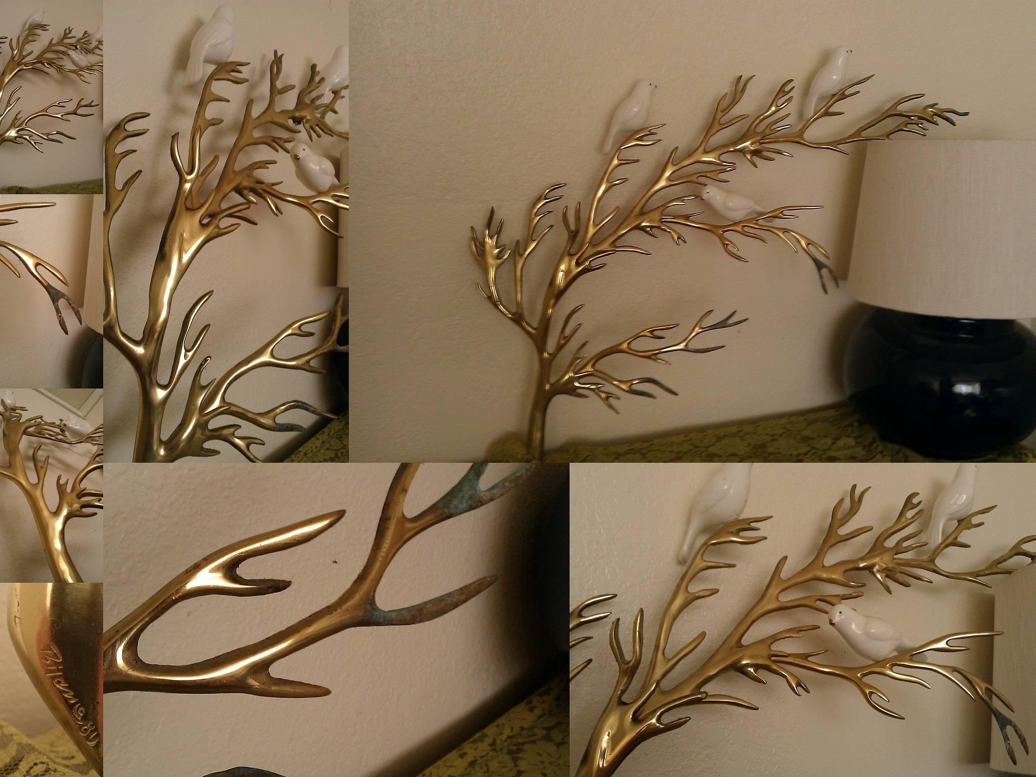 Wall Art Designs: Wall Art Sculpture Rare Vintage Bijan Brass Tree Pertaining To Most Popular Tree Sculpture Wall Art (View 9 of 20)