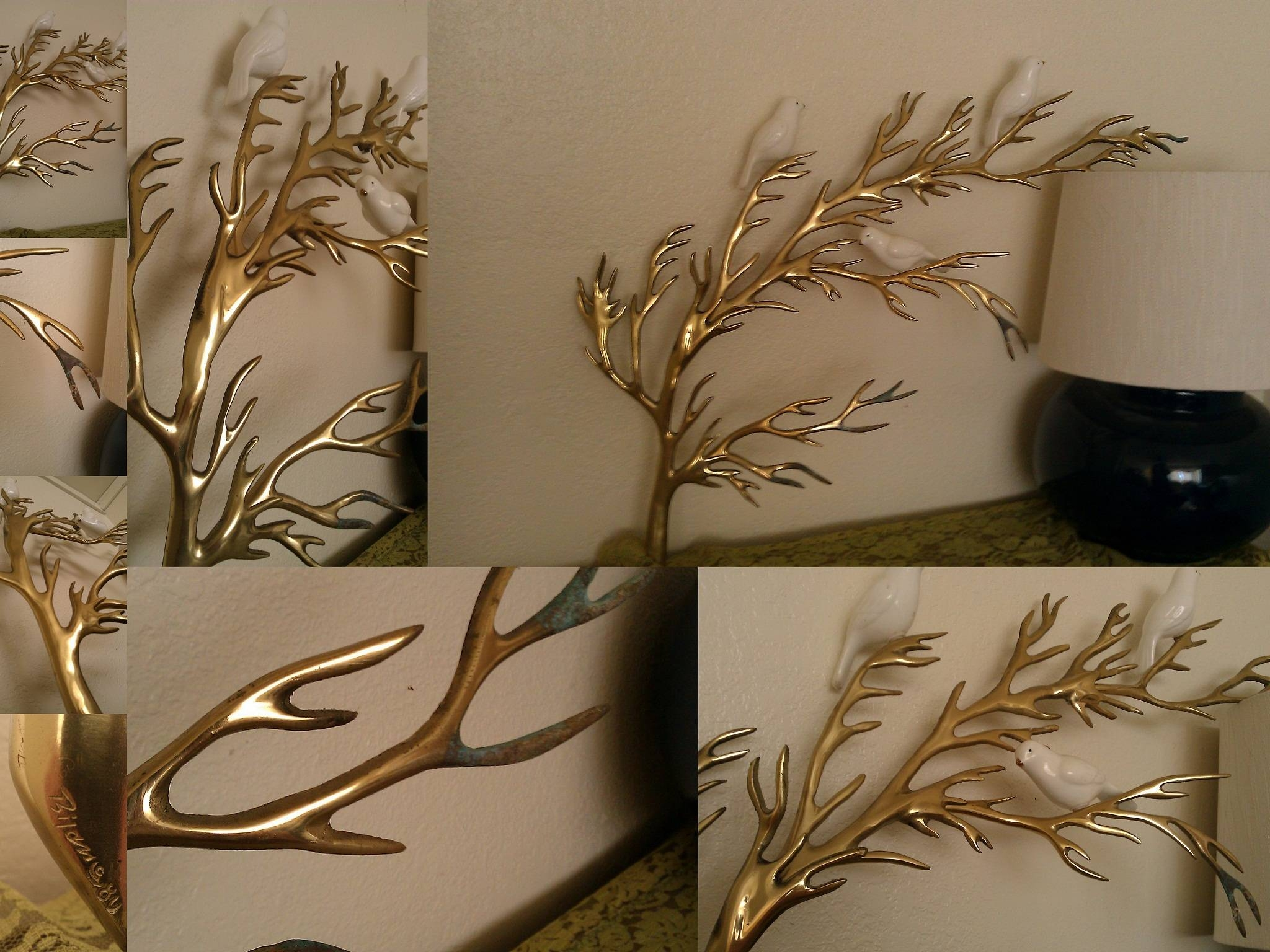 Wall Art Designs: Wall Art Sculpture Rare Vintage Bijan Brass Tree Pertaining To Most Recent Tree Wall Art Sculpture (View 19 of 20)