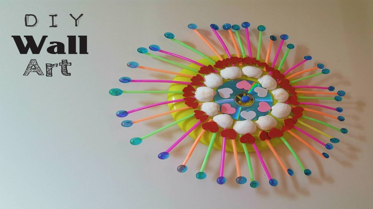 Wall Art Diy |easy,simple ,recycled Room Decor Wall Art – Youtube For Newest Recycled Wall Art (View 17 of 30)