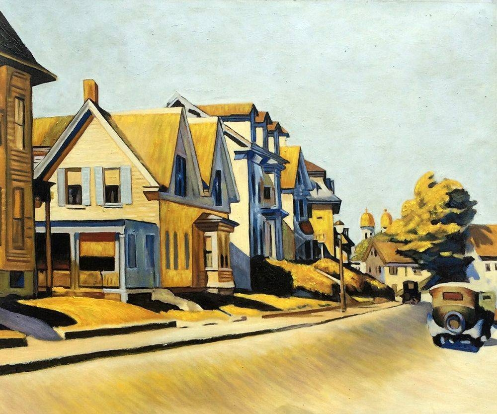 Wall Art: Edward Hopper – Street Scene, Gloucester – Reproduction Pertaining To Best And Newest Street Scene Wall Art (View 10 of 25)