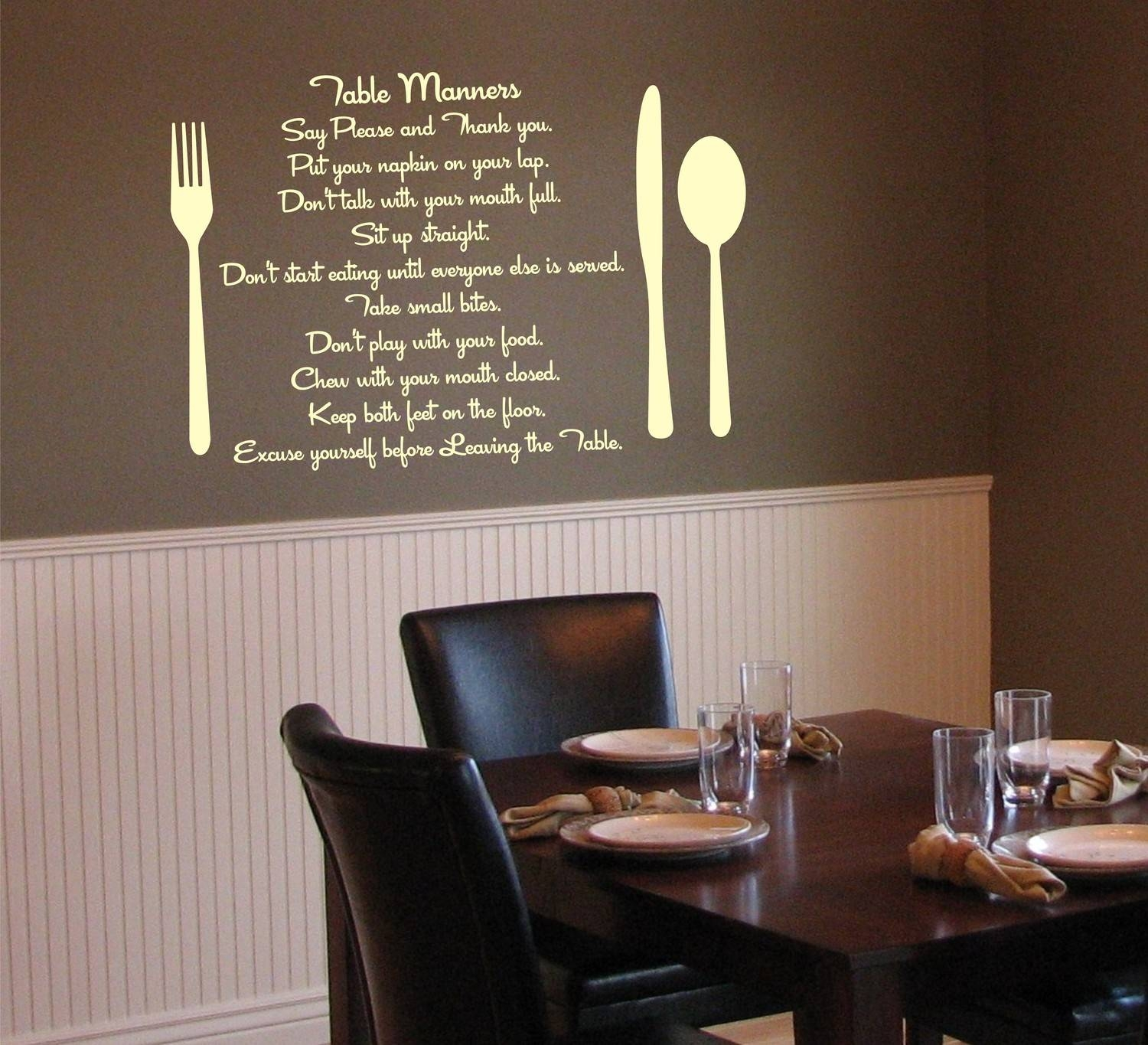 Wall Art For Dining Room Area Decor Ideas And With Most Popular