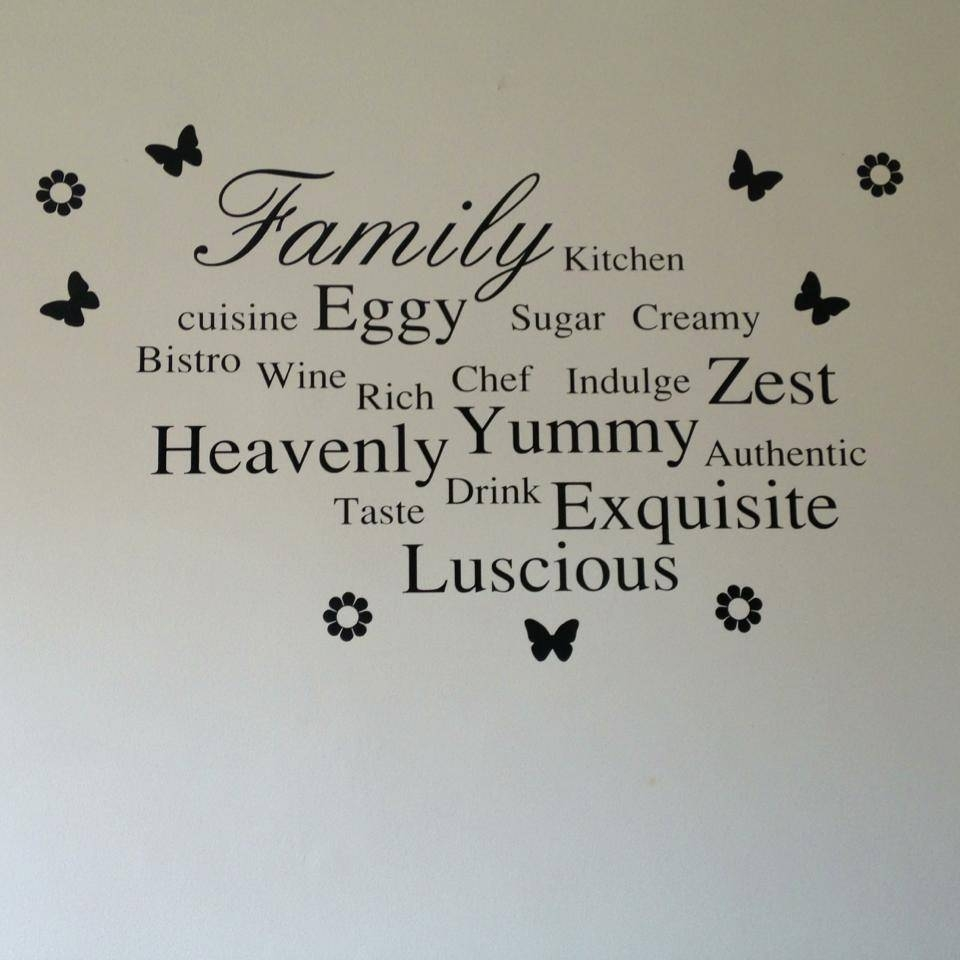 Wall Art For Kitchen, Kitchen Wall Word Art Word Wall Ideas In Most Current Wall Art For Kitchens (View 19 of 20)