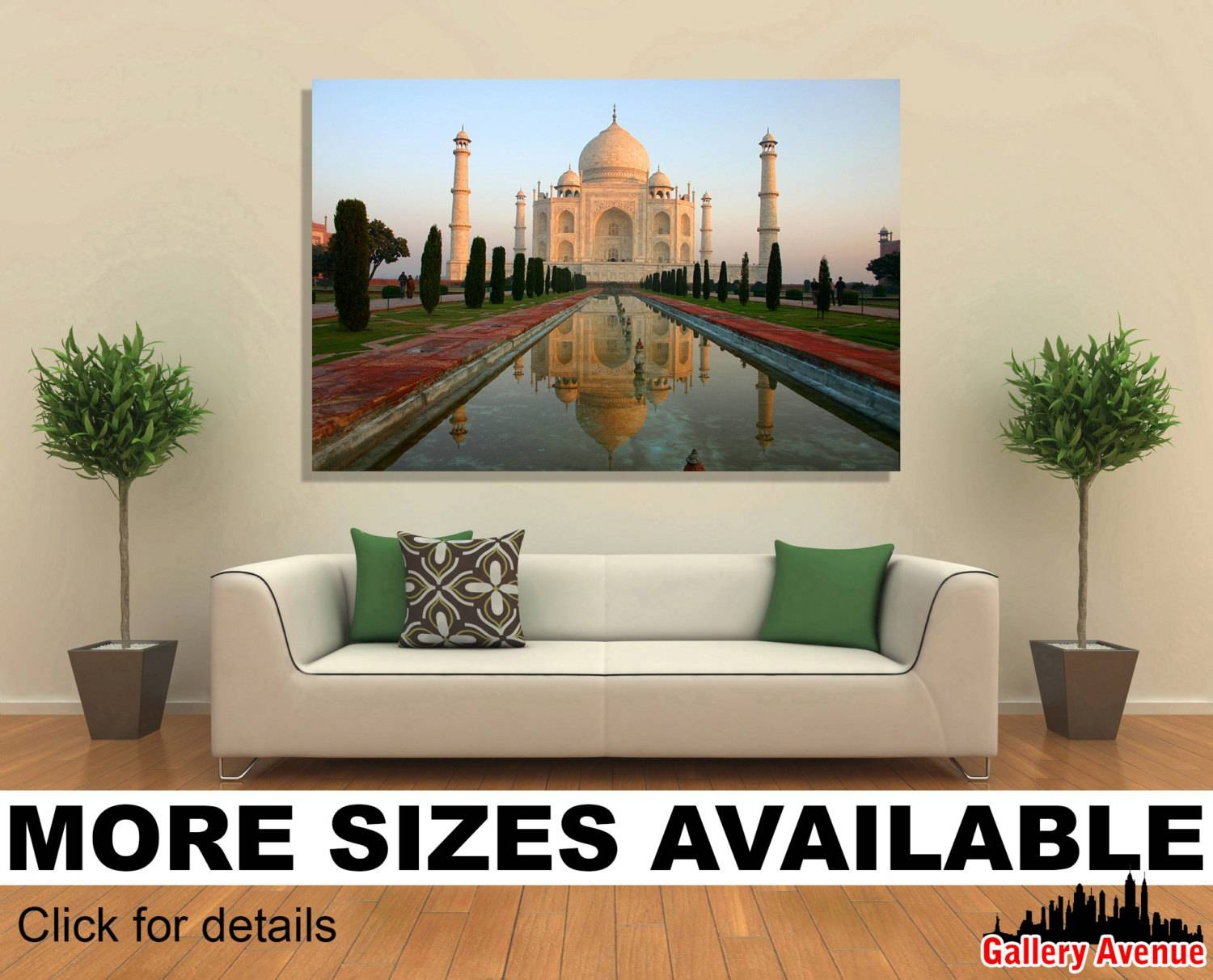 Wall Art Giclee Canvas Picture Print Gallery Wrap Ready To With Latest Taj Mahal Wall Art (View 25 of 25)