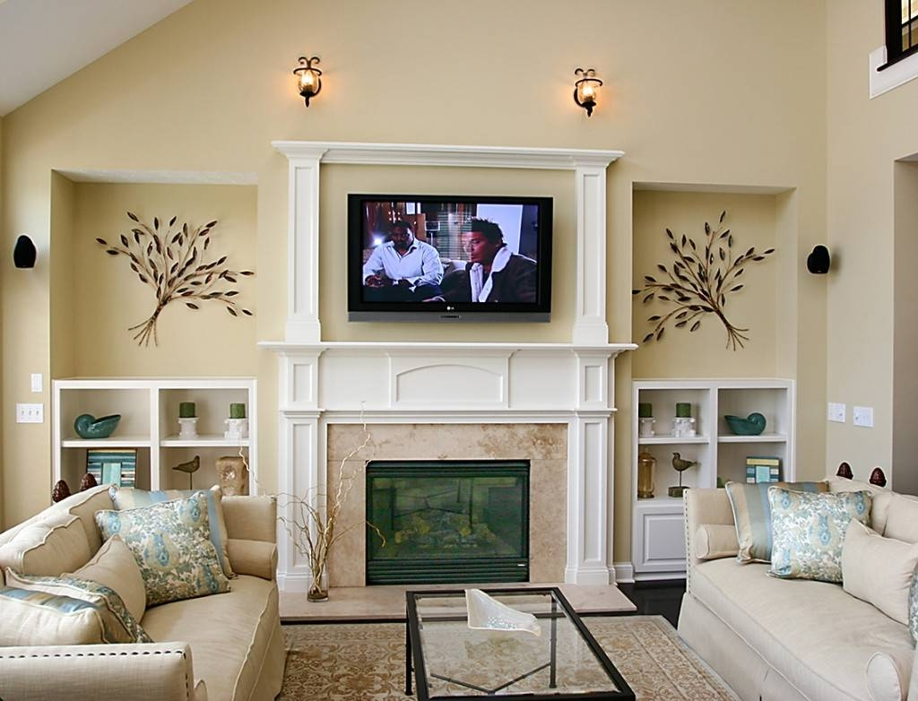 Wall Art Ideas Above Tv | Wallartideas For Newest Fireplace Wall Art (View 11 of 20)