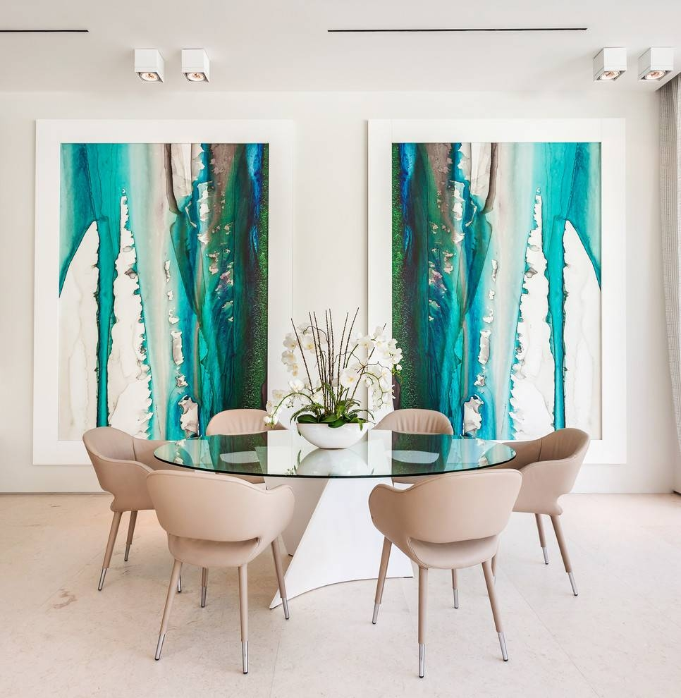 Wall Art Ideas For Large Wall Dining Room Contemporary With Glass Pertaining To Newest Oversized Wall Art Contemporary (View 18 of 20)