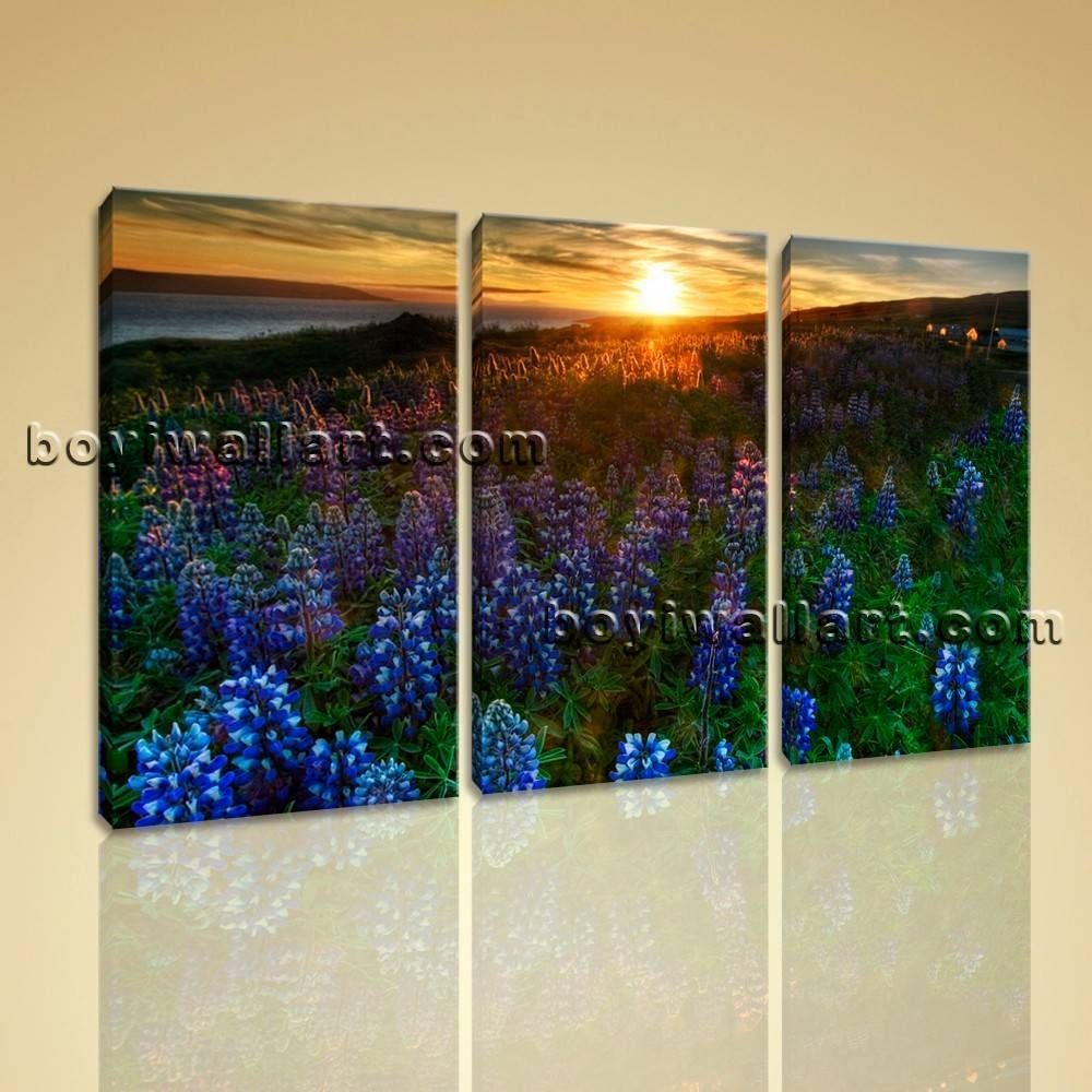 Wall Art On Canvas Hd Print Picture Modern Contemporary Landscape Within Recent Canvas Landscape Wall Art (View 10 of 20)