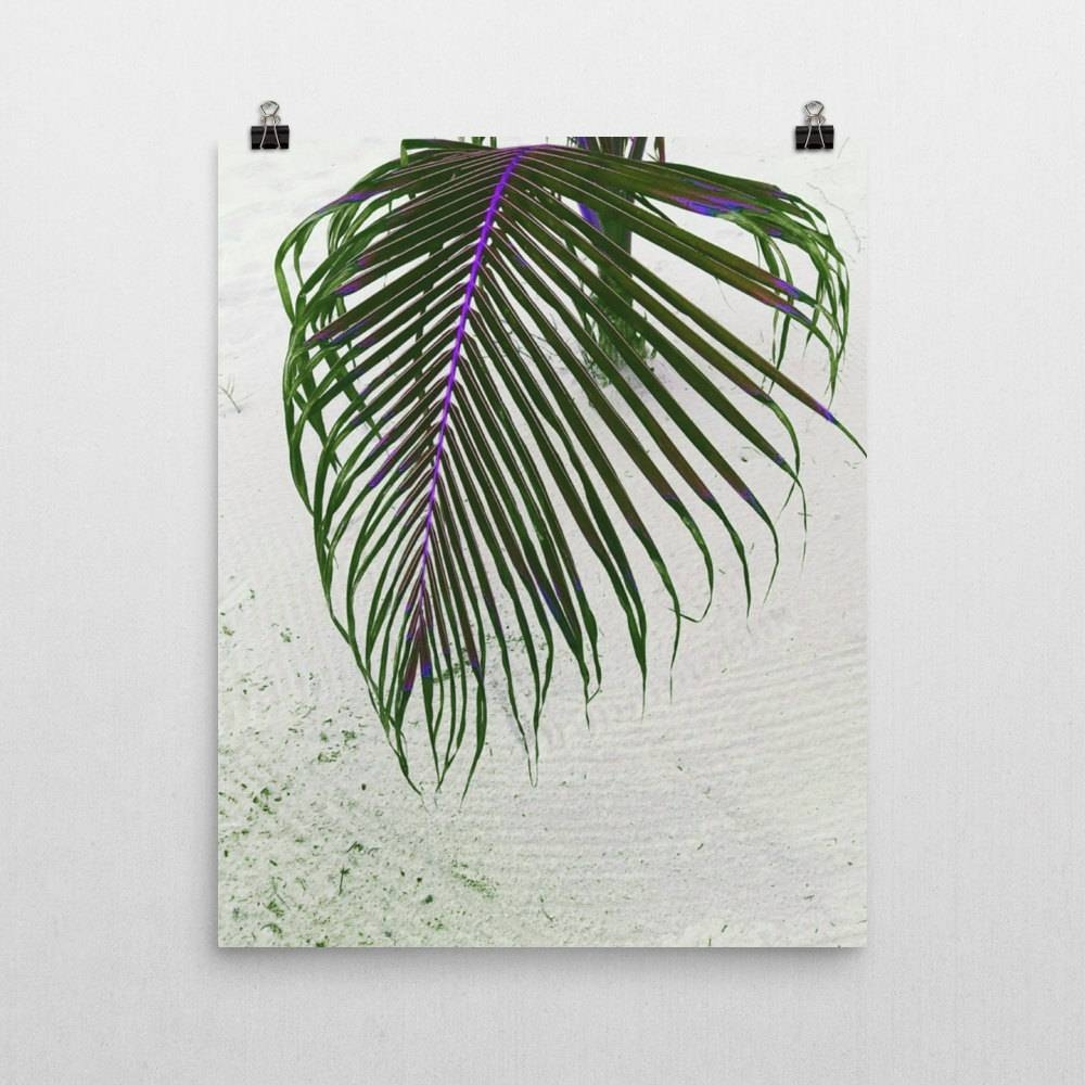 Wall Art Print Palm Leaf Art Print, Greenery Home Wall Decor With Regard To  Recent