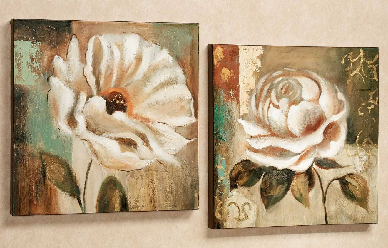Wall Art Sets For Living Room Flowers Theme | Home Interior & Exterior Regarding Current Wall Art Sets For Living Room (View 19 of 20)