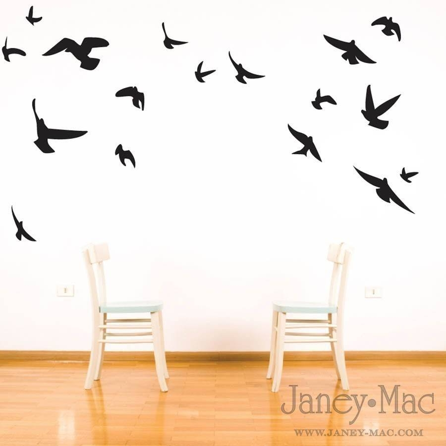 Wall Art: Simple Decorating Birds Wall Art Flying Birds Wall Art Intended For Recent Flock Of Birds Wall Art (View 24 of 25)