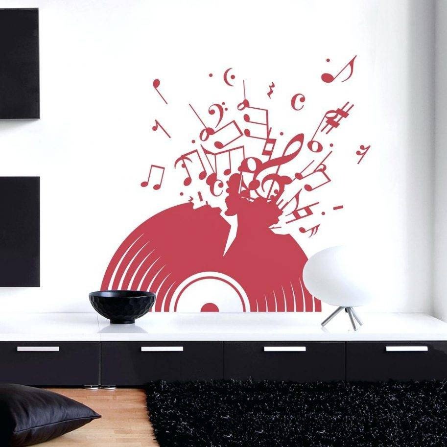 Wall Art Stickers Music Quotes Sheet Canvas Diy Amazon Music Wall Intended For Best And Newest Diy Canvas Wall Art Quotes (View 19 of 20)
