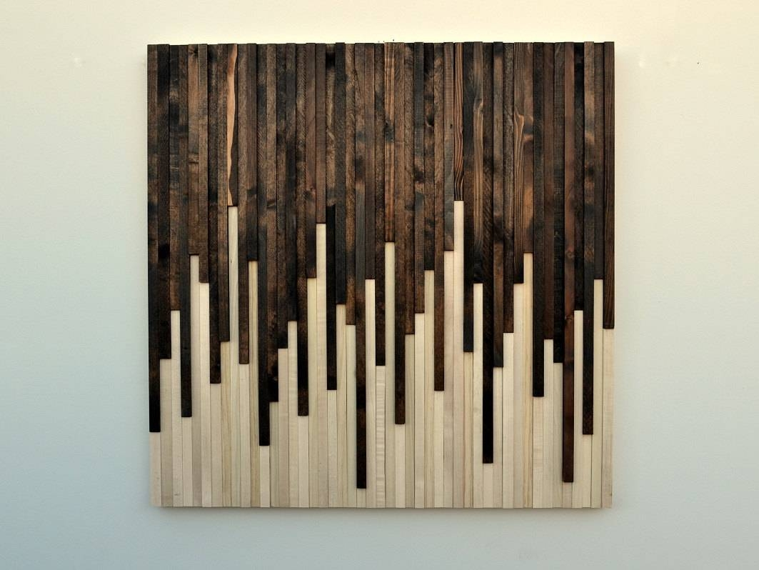 Wall Art Wood Wall Art Rustic Wood Sculpture Wall In Most Current Wall Art On Wood (View 2 of 20)