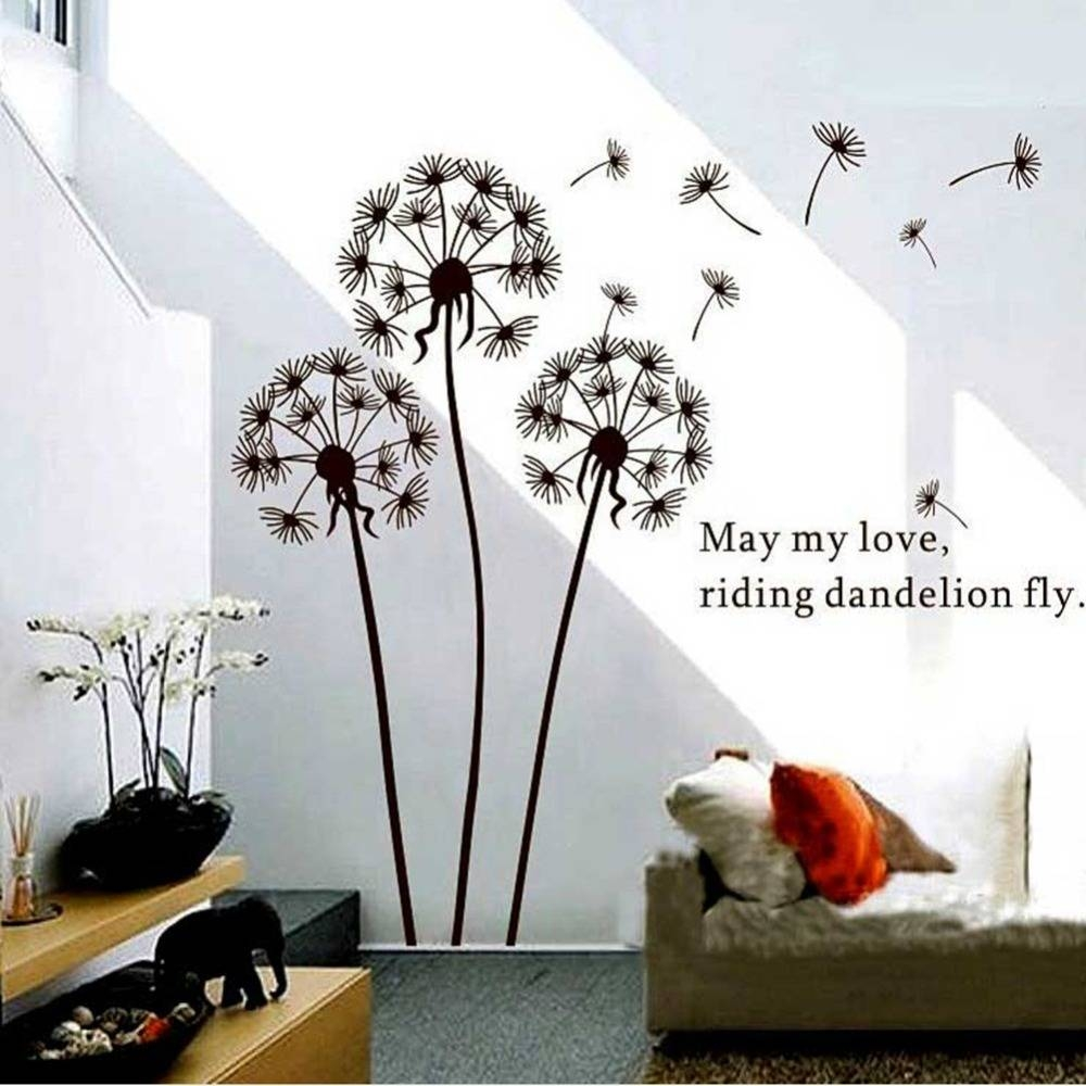 Wall: Beautiful Dandelion Wall Decal To Bring Your Room Feel Fresh Inside Most Recent Walmart Wall Stickers (View 21 of 25)