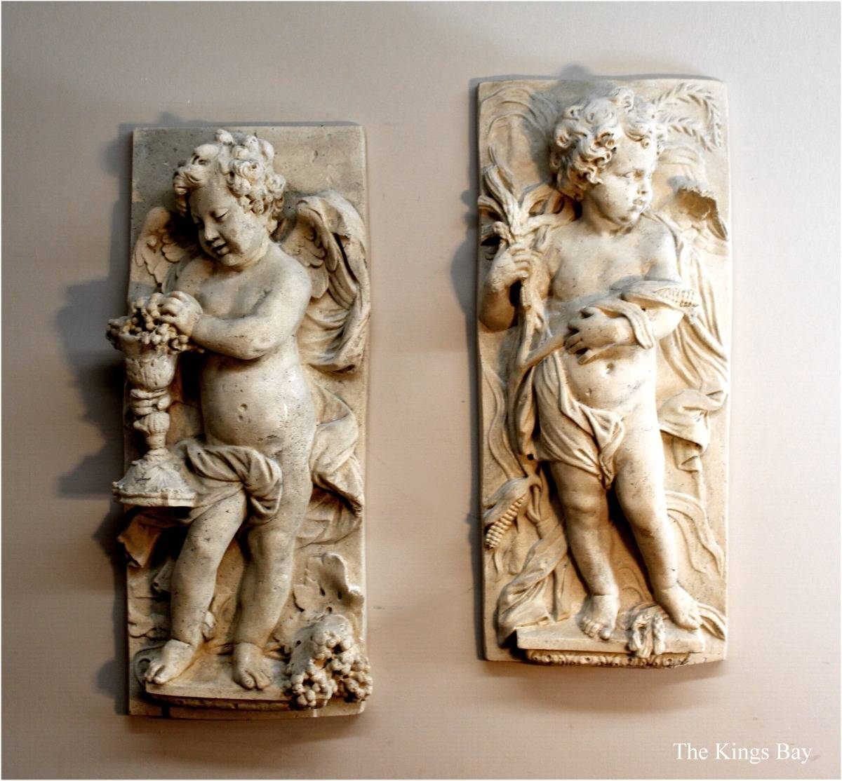 Wall Big Garden Cherub Plaques (Pr) Angel Wings Roman Faux Stone With Regard To Latest Angel Wings Sculpture Plaque Wall Art (View 17 of 20)
