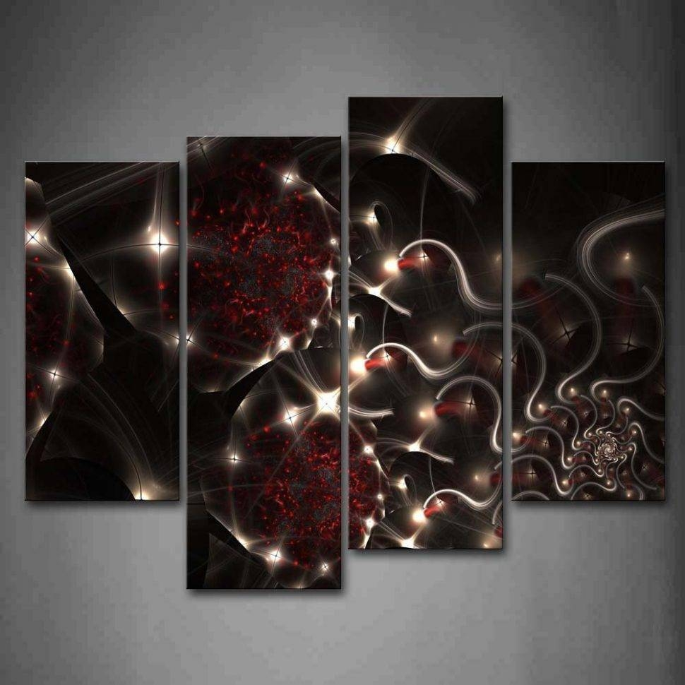 20 inspirations of black white and red wall art for Red wall art