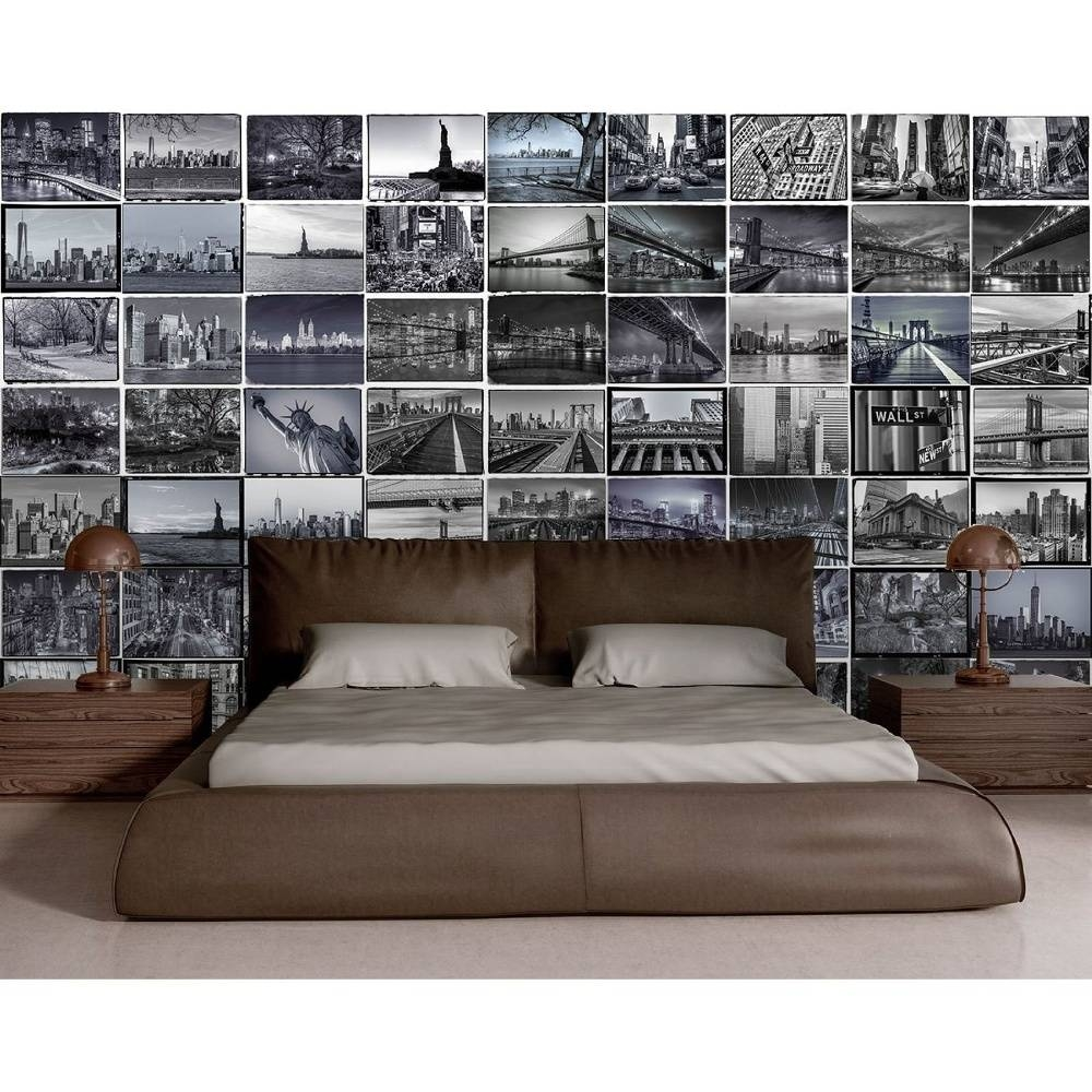 Wall City Scene New York London 64 Piece Creative Collage Wall Art Within Most Recently Released London Scene Wall Art (View 13 of 20)