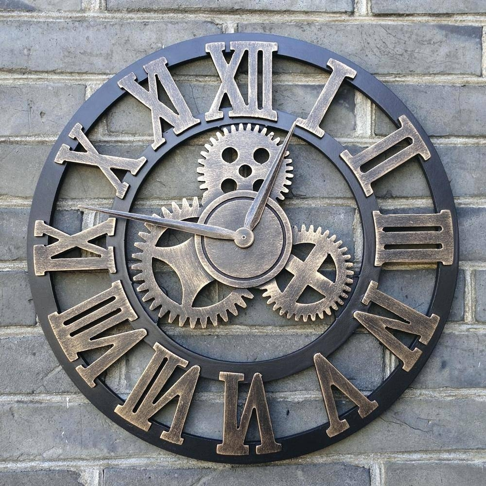 Wall Clocks : Large Image For Wondrous Huge Metal Wall Clock 69 Throughout Most Current Abstract Wall Art With Clock (View 17 of 20)