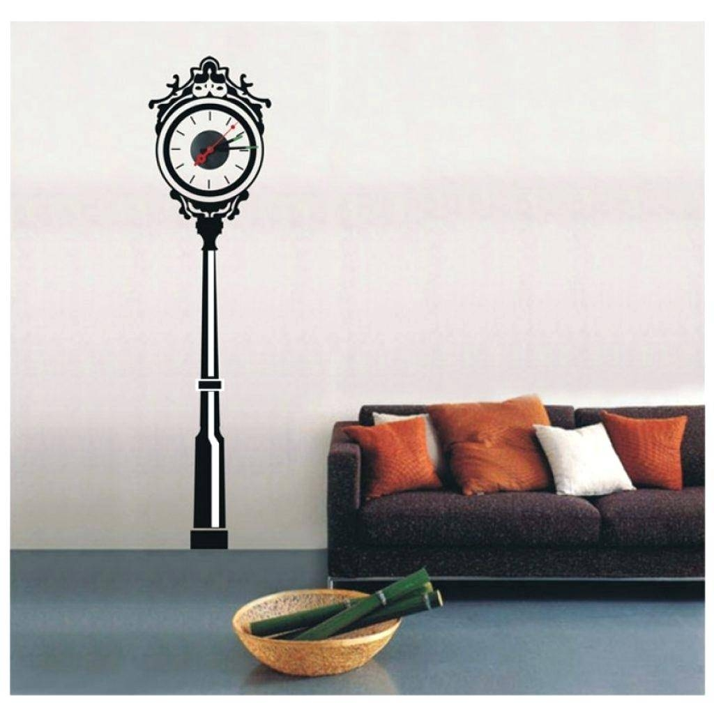 Wall Clocks : Wall Decal Clock Birds And Branches Decal Wall Clock In Latest Kohls Wall Decals (View 16 of 25)