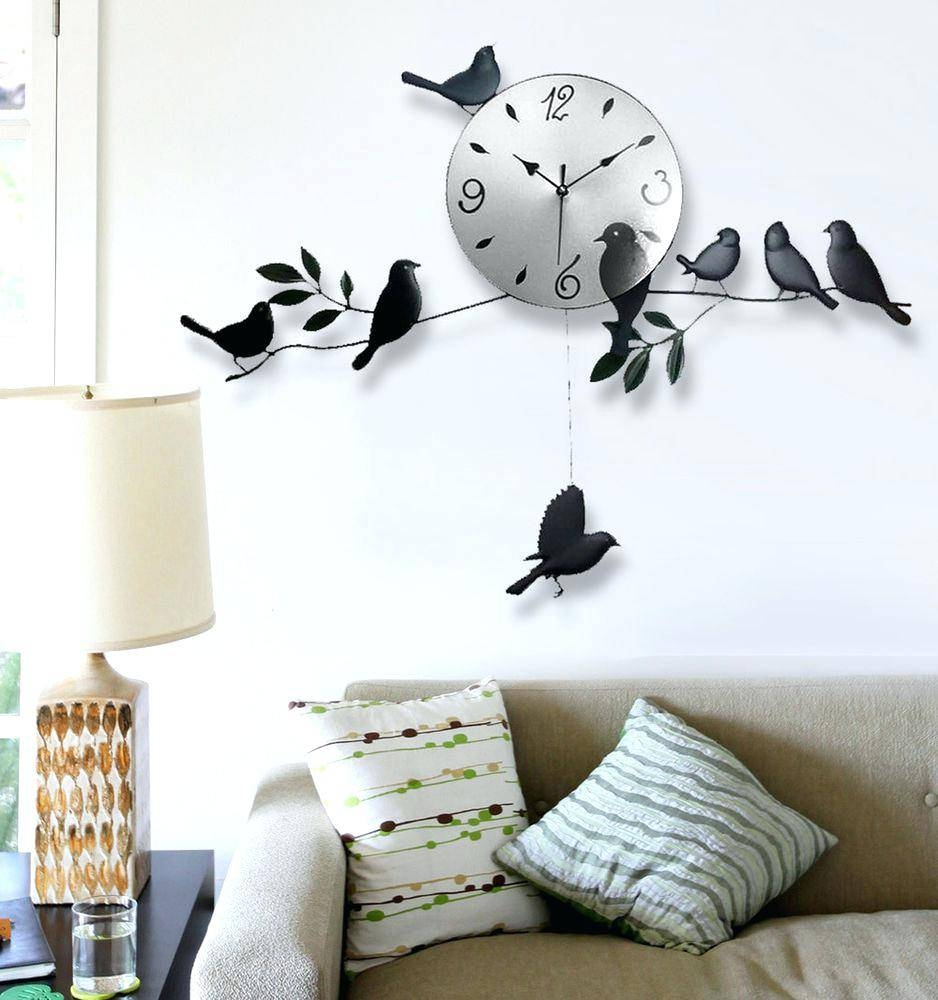 Wall Clocks : Wall Decal Clock Hands Decal Wall Clock Kit Lonely Intended For 2018 Kohls Wall Decals (View 21 of 25)
