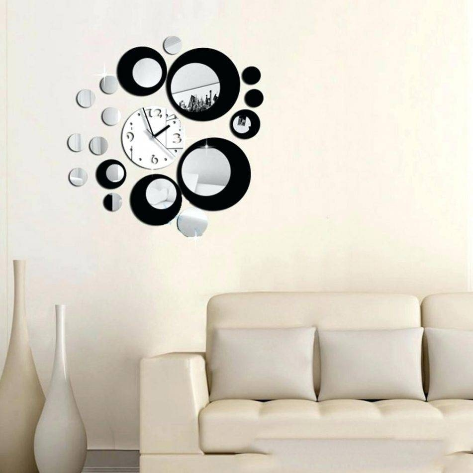 Wall Clocks : Wall Decal Clock Hands Decal Wall Clock Kit Lonely Regarding Most Popular Kohls Wall Decals (View 18 of 25)