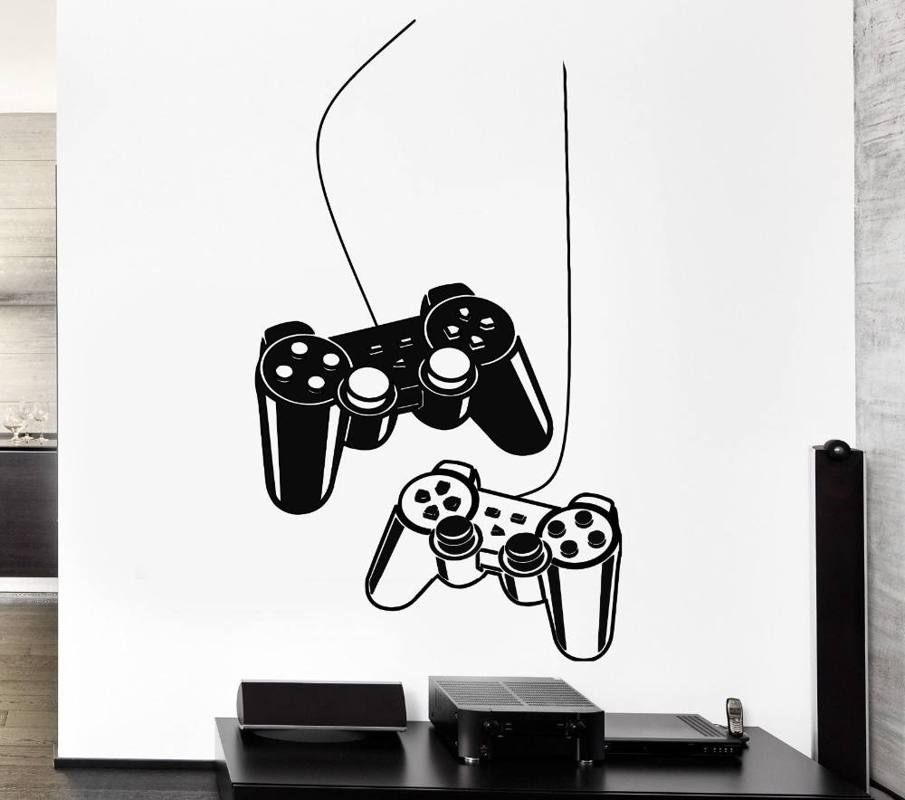 Wall Decal: Awesome Video Game Wall Decals Video Game Controller Intended For Most Recent Video Game Wall Art (View 10 of 30)