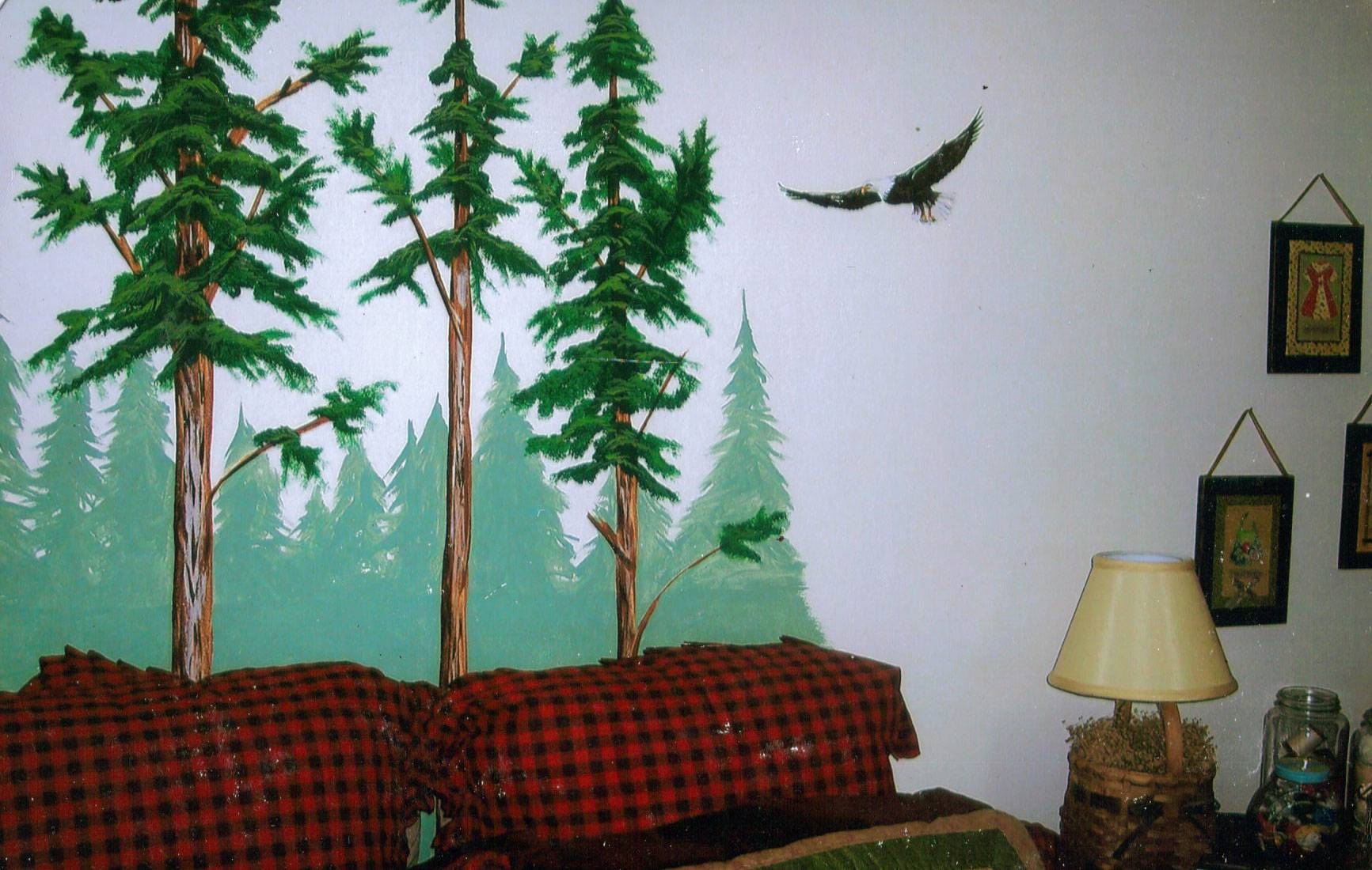 Wall Decal: Beautiful Pine Tree Wall Decal Pine Tree Wall Stickers Intended For Latest Pine Tree Wall Art (View 5 of 30)
