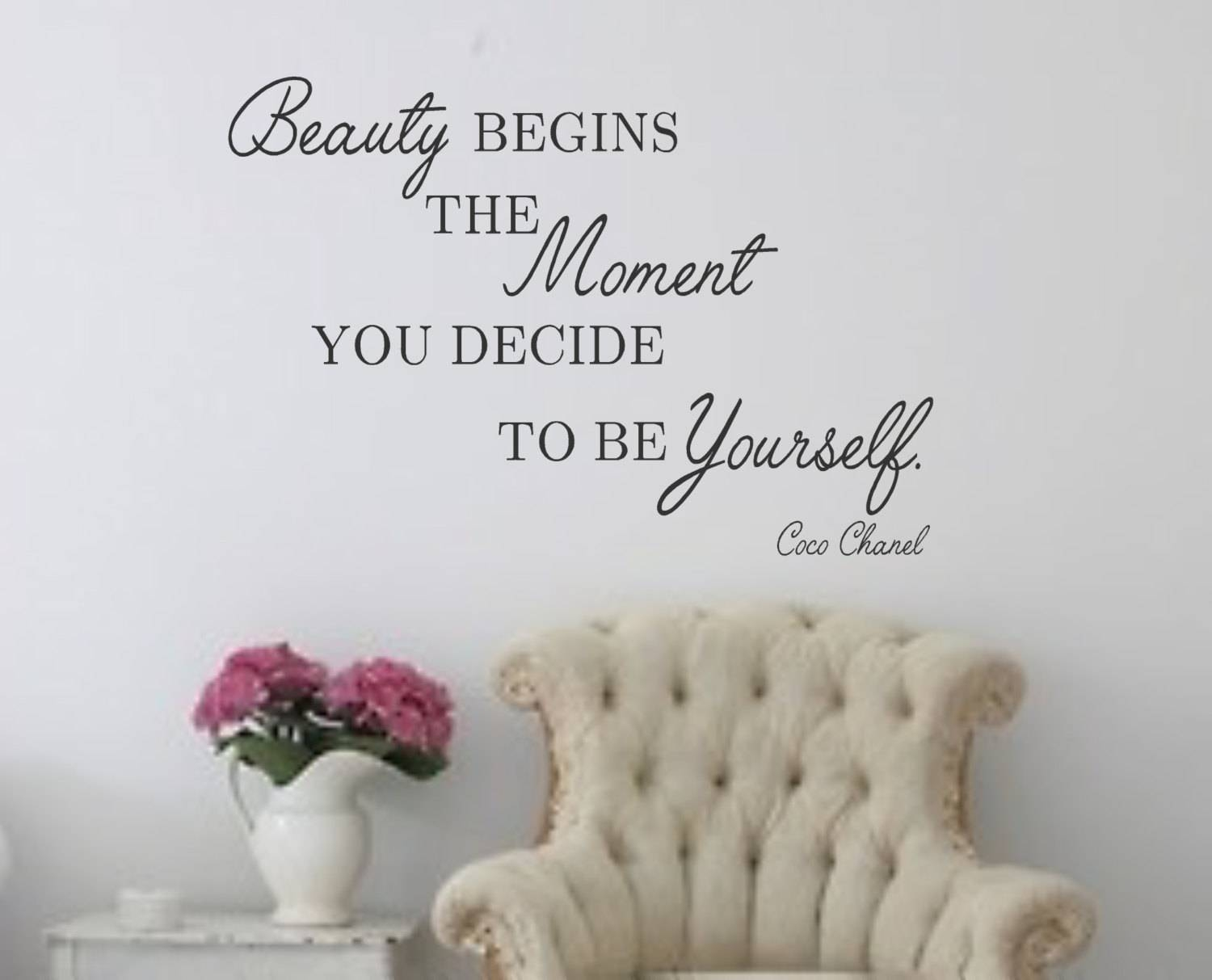 Wall Decal Beauty Begins The Moment You Decide To Be Within Most Up To Date Coco Chanel Wall Stickers (View 4 of 30)