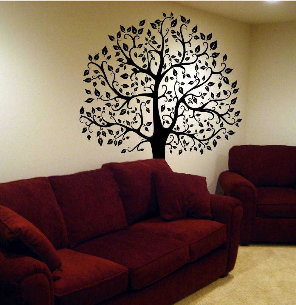 Wall Decal Big Topiary Tree Deco Art Sticker Mural , Decals For Recent Topiary Wall Art (View 29 of 30)