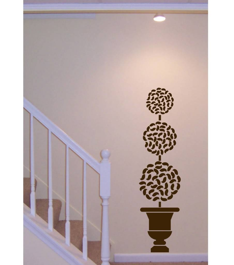 Wall Decal Big Topiary Tree Deco Art Sticker Mural , Decals Regarding 2017 Topiary Wall Art (View 9 of 30)