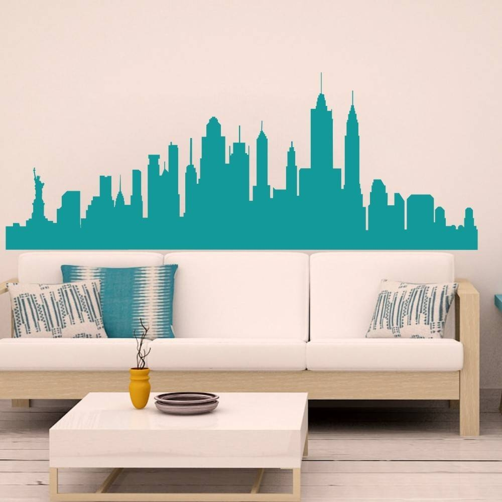Wall Decal New York City Nyc Skyline Cityscape Travel Vacation With Regard To Best And Newest New York 3D Wall Art (View 19 of 20)