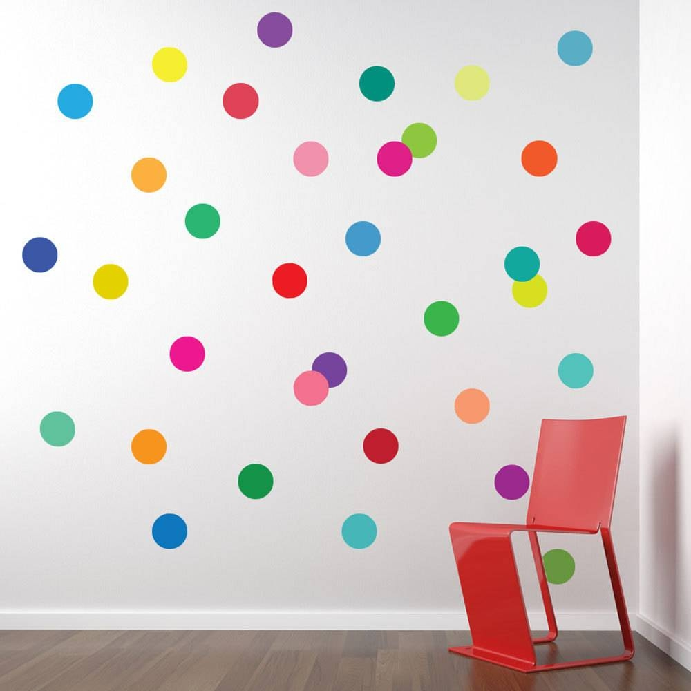 Wall Decal: Polka Dot Wall Decals | | Walmart Decals Within Newest Walmart  Wall Stickers