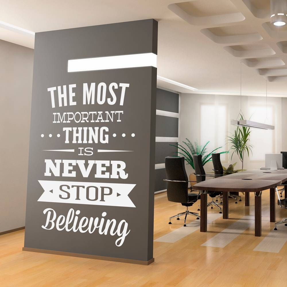 Wall Decal Quotes – Wall Decal Inspirational Office Art Quote With Current Inspirational Wall Art For Office (View 19 of 20)