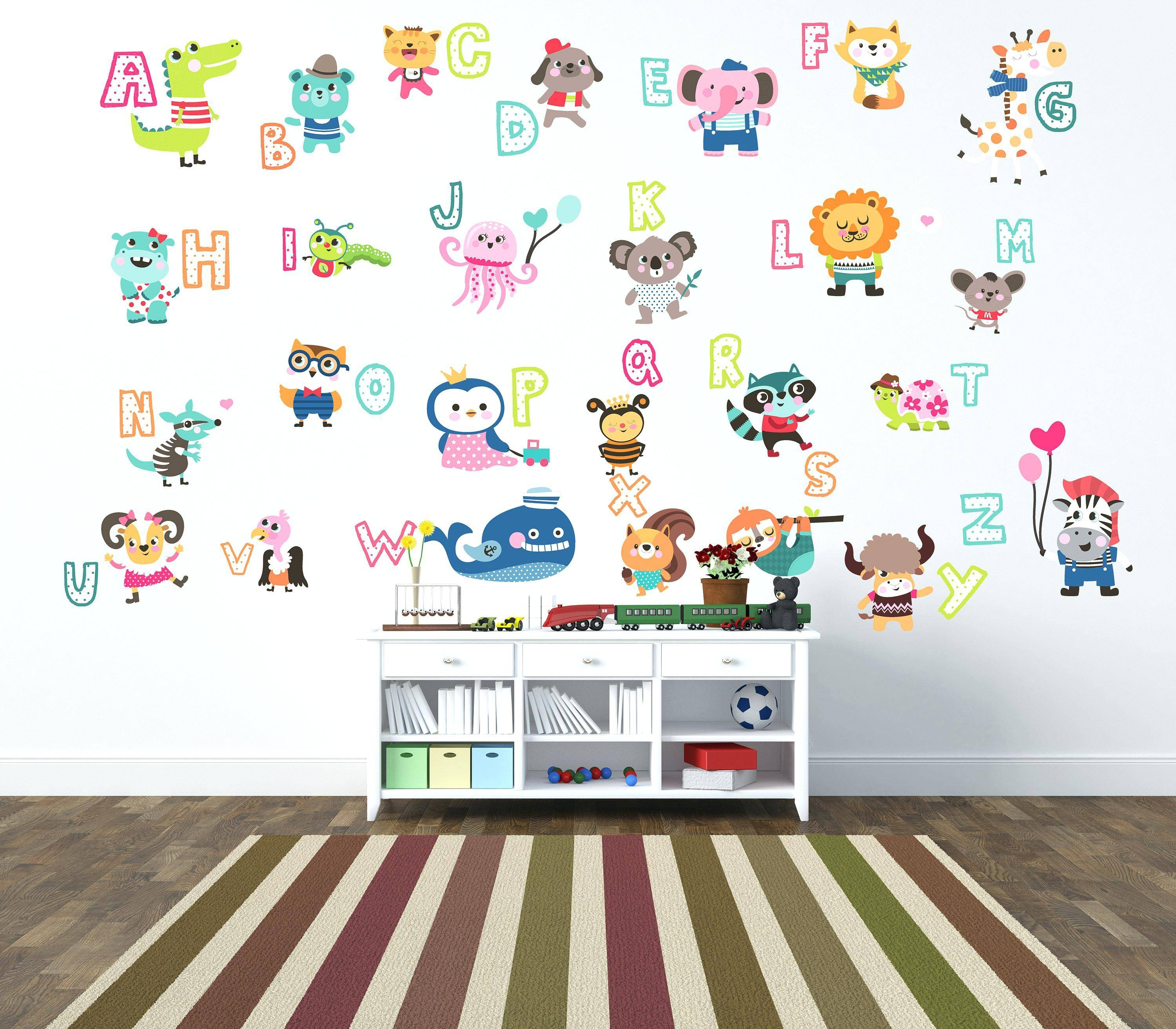 Wall Decals Alphabet – Gutesleben In Recent Preschool Classroom Wall Decals (View 23 of 30)