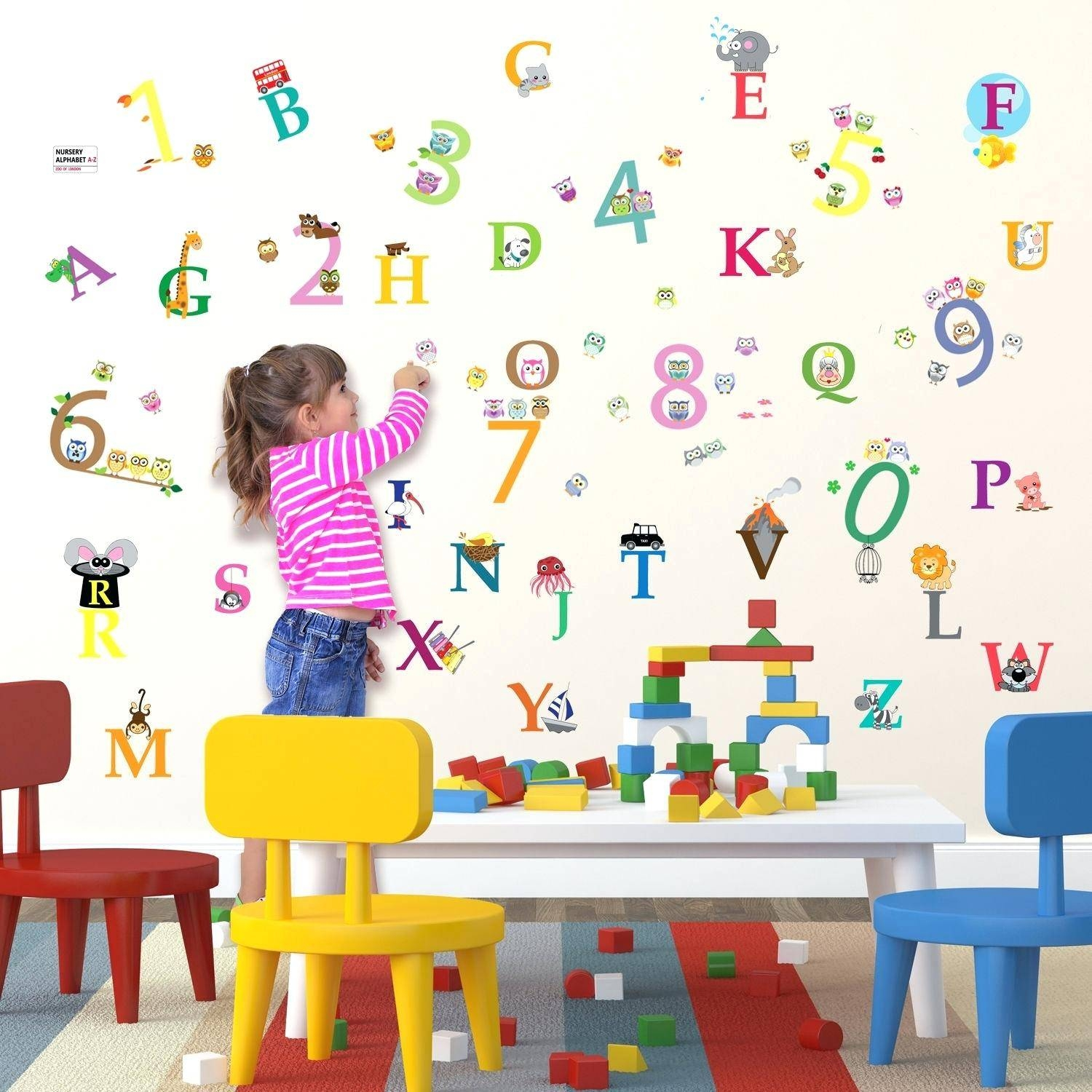 Wall Decals Alphabet – Gutesleben Pertaining To Best And Newest Preschool Classroom Wall Decals (View 24 of 30)