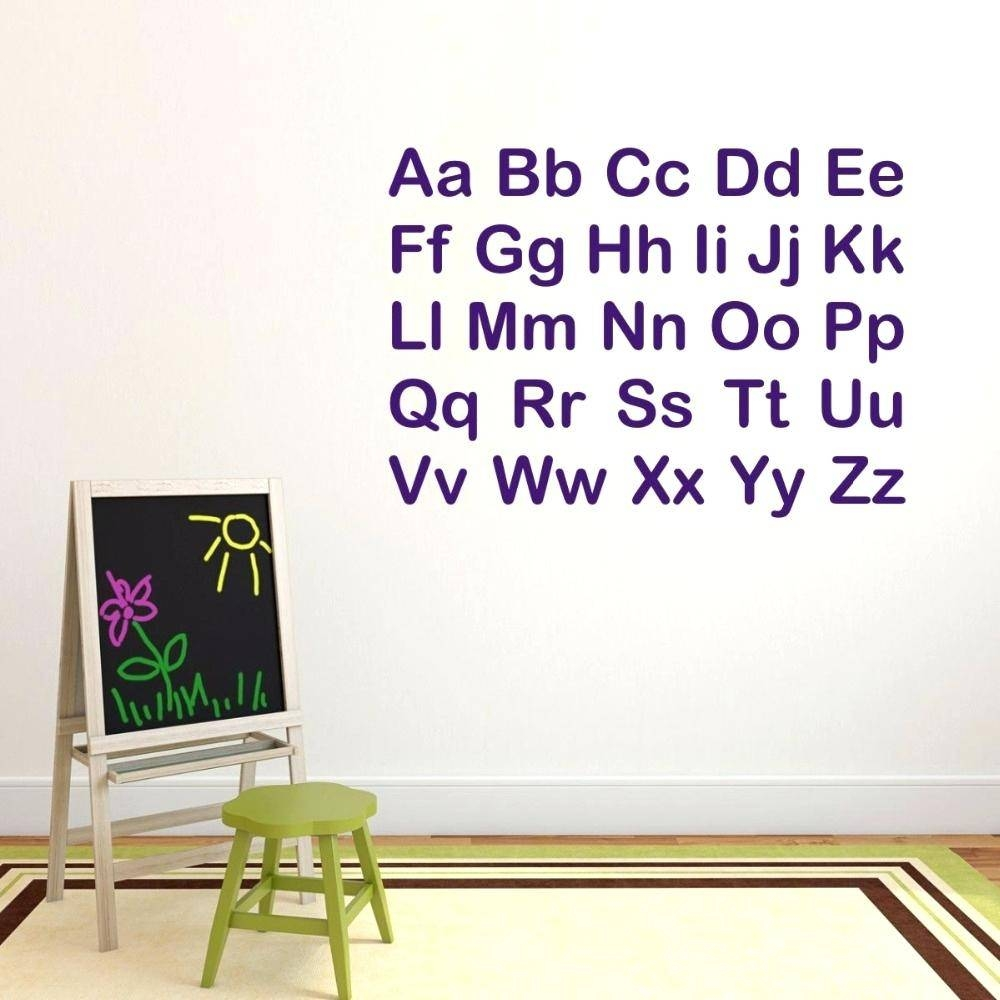 Wall Decals Alphabet – Gutesleben Pertaining To Most Recently Released Preschool Classroom Wall Decals (View 25 of 30)