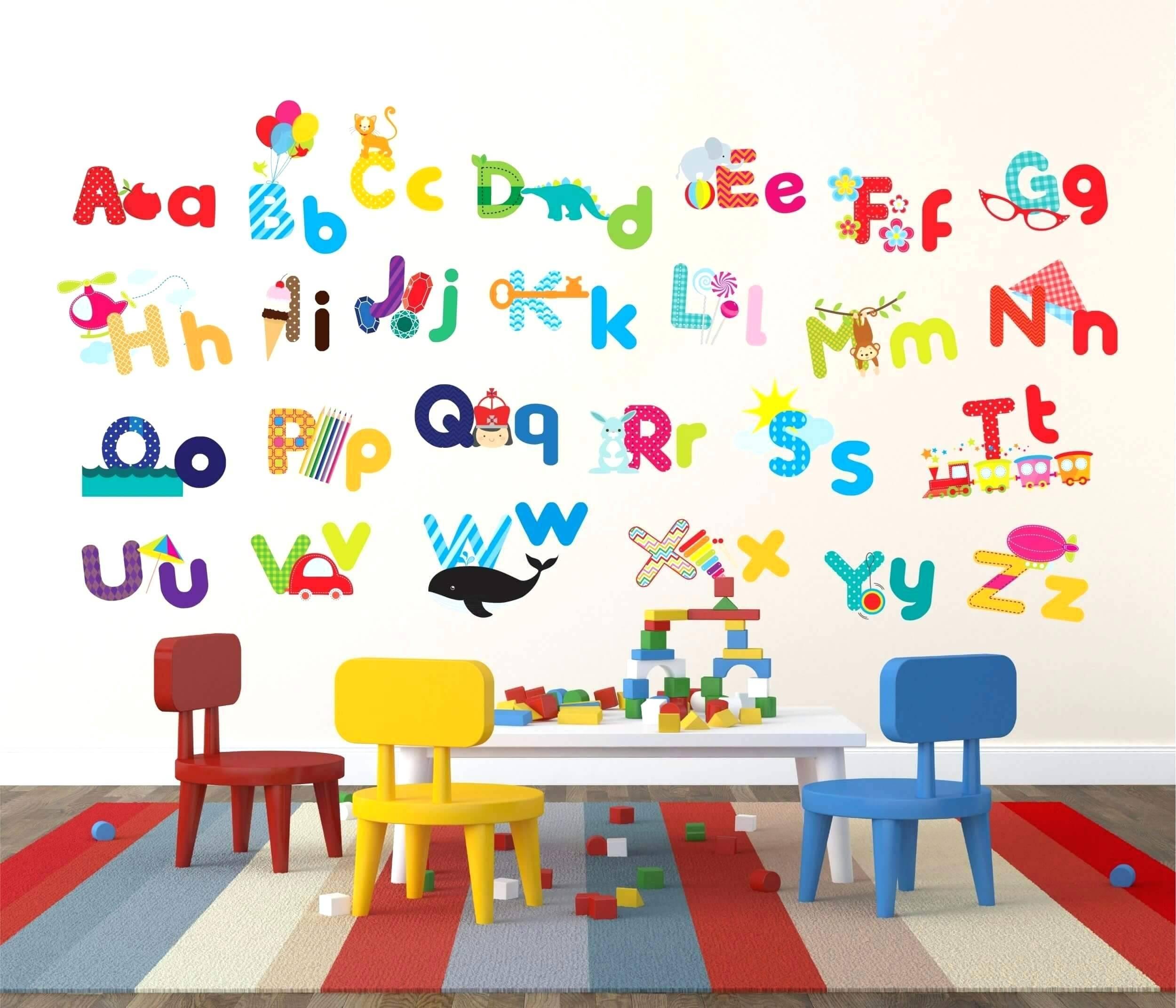 Wall Decals Alphabet – Gutesleben With Regard To Most Recently Released Preschool Classroom Wall Decals (View 27 of 30)