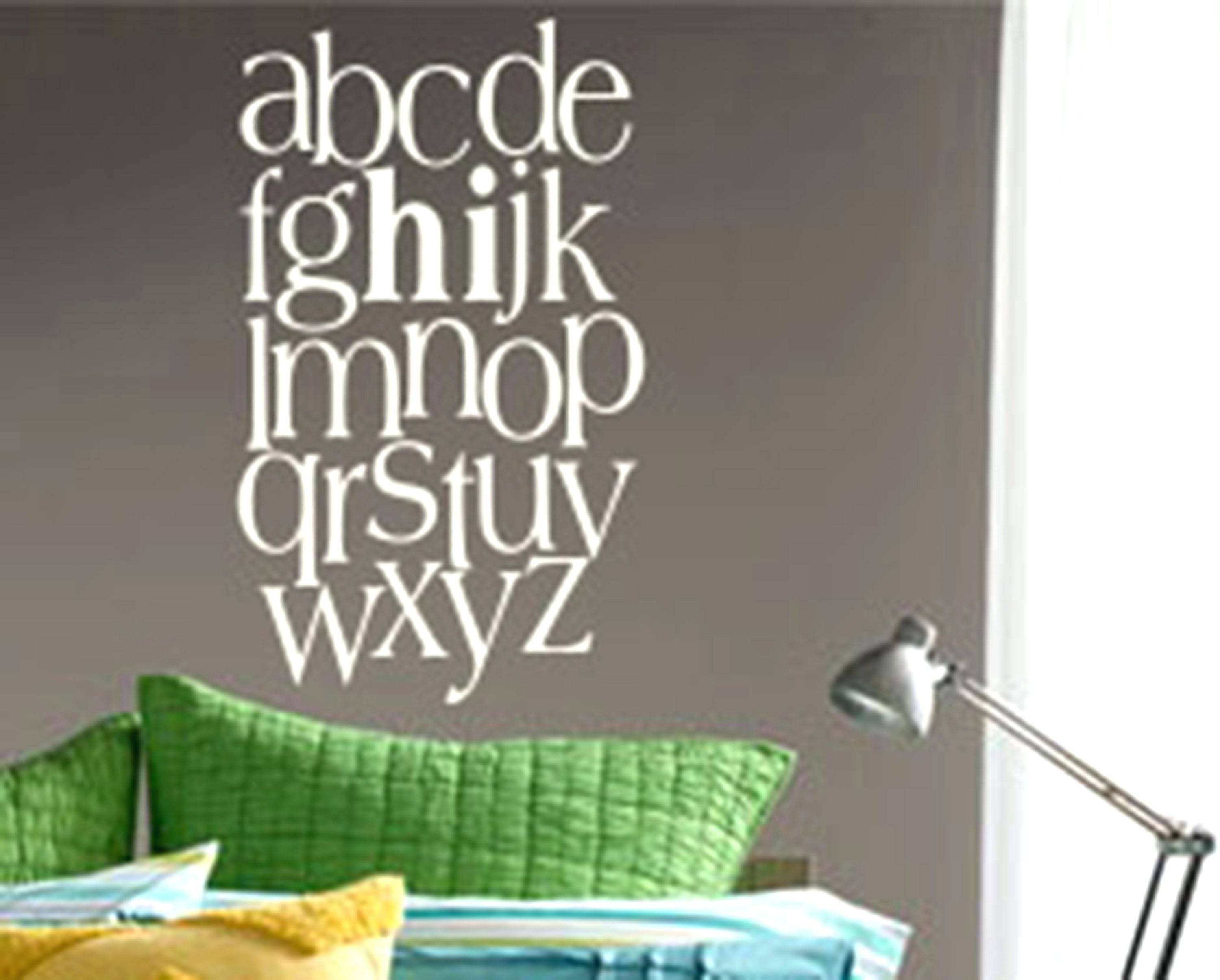 Wall Decals Alphabet – Gutesleben With Regard To Newest Preschool Classroom Wall Decals (View 29 of 30)