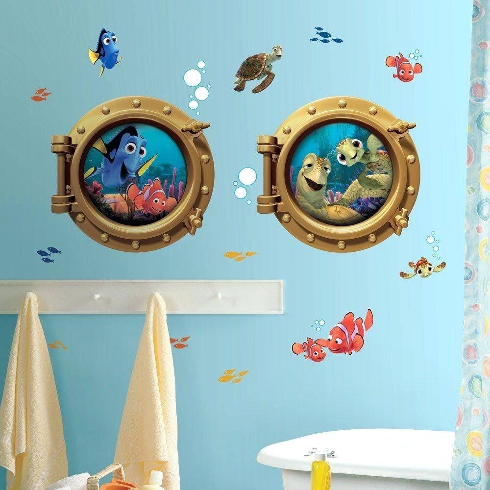 Wall Decals For Kids Bathroom Kids Bathroom Wall Decor Kids For Most Up To Date Fish Decals For Bathroom (View 29 of 30)