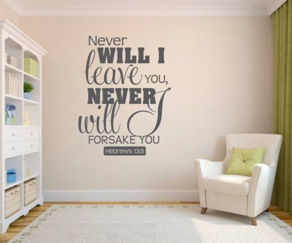 Wall Decals Ideas: Awesome Bible Verse Wall Decals For Nursery For Recent  Nursery Bible Verses