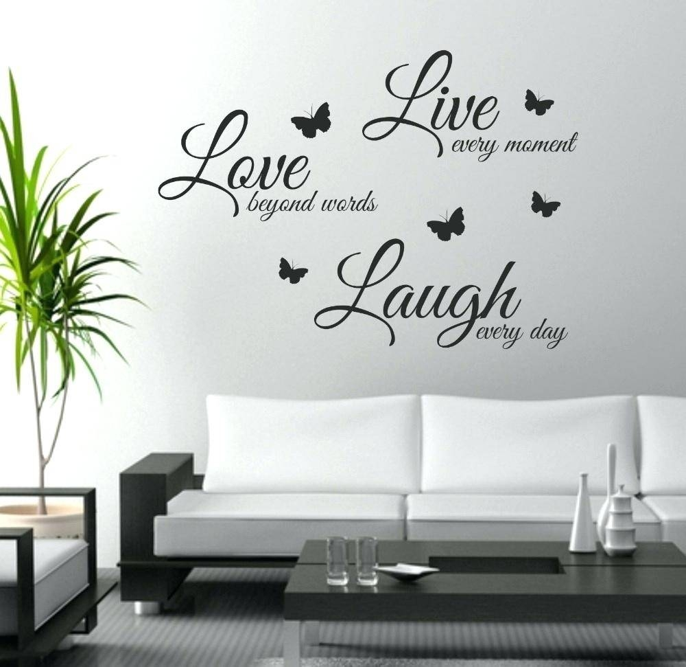Wall Decals Live Laugh Love Wall Art Stickers Large Flower Roses Intended For Most Up To Date Love Wall Art (Gallery 11 of 20)