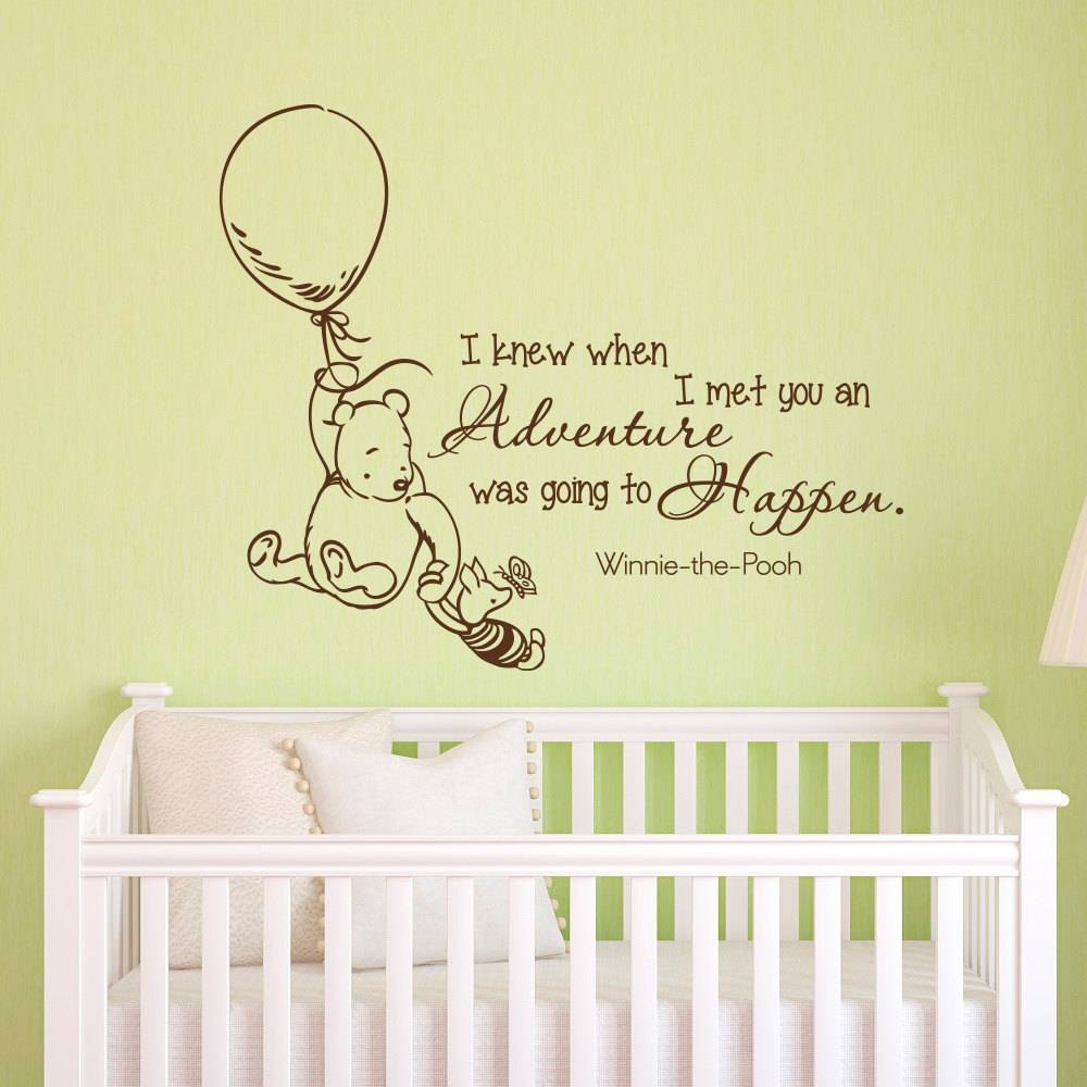Wall Decals Quotes Classic Winnie The Pooh I Knew When I Met Throughout Most Up To Date Classic Pooh Art (View 10 of 20)